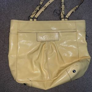 Coach Yellow Patent Tote